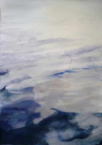 Flöde I, akvarell